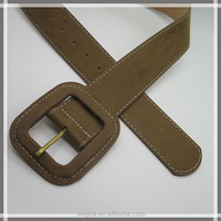 Fashionable leather square wrap buckle belt for jeans or dress