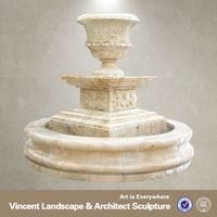 Hand carved outdoor stone park fountain VMF-N001T