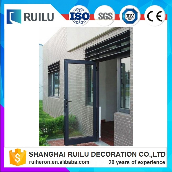 Ruilu construction double glazed insect screen airtight Aluminum framed 24 inches exterior french doors