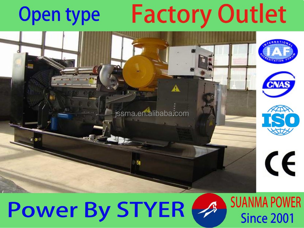 China factory 200kw CE approved water-cooled open type diesel generator price