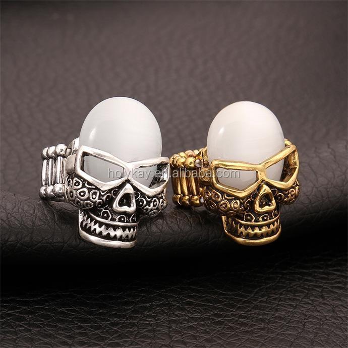 2015 Latest Jewelry,Skull Wear Glasses For Cool Men Ring ...