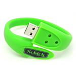 Wholesale Advertising Gift Cheap Silicone Promotional USB Wrist Band