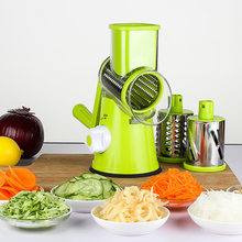 As seen on TV Manual Food Chopper vegetable friut slicer set with 3 stainless steel blades
