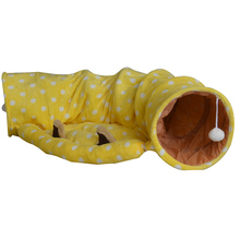 Cute cartoon cat nest warm winter plush tease tunnel ring paper roll lumbricus totally enclosed folding tent