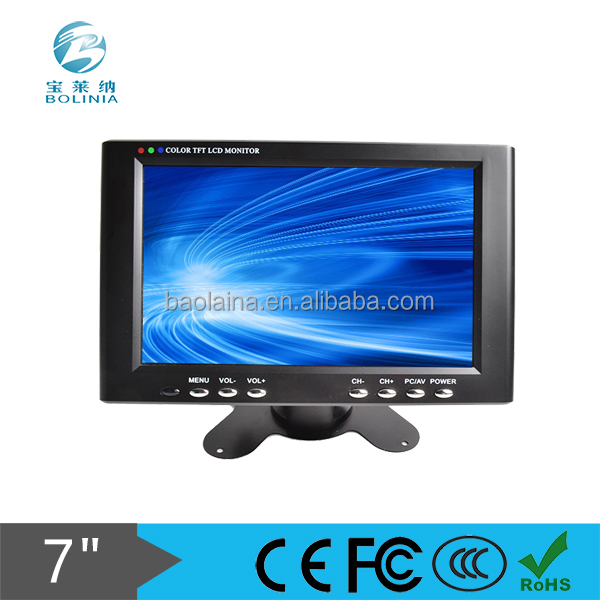 7 inch LCD Monitor Portable Plastic Case Widescreen with VGA/AV input and TV optional