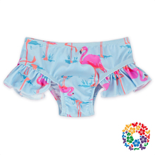 Pink Flamingo Baby Swimming Trunks And Tops High Quality Ruffle Lace Baby Girls Swimsuits