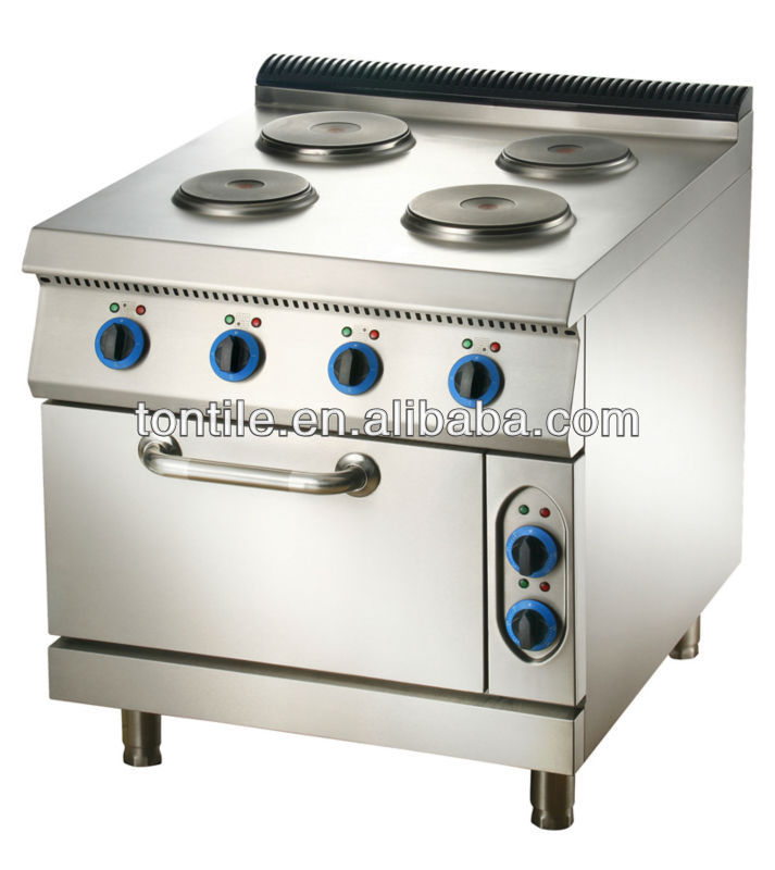 hotel kitchen fittings commerical oven equipments electric&gas hot plates range with oven