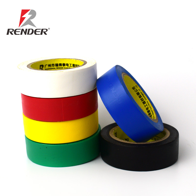 Free Sample 18mm*20m*0.15mm Custom Rubber Pressure-sensitive Insulation Adhesive PVC Electrical Tape