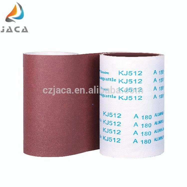 Heated Aluminium oxide flexible abrasive cloth roll for sanding belt