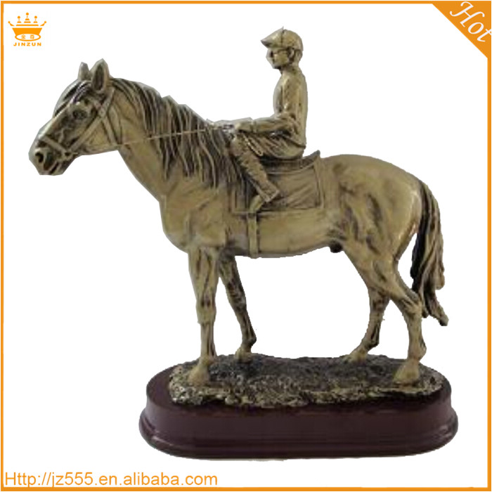 Plated custom resin trophies, horse shaped resin trophy