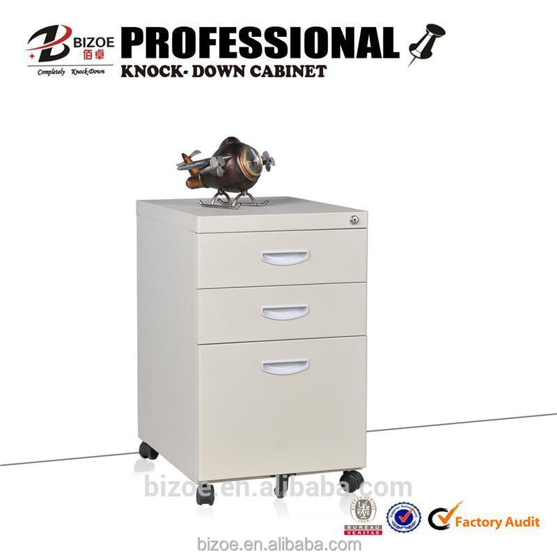 China kd metal drawer storage file cabinet with wheels