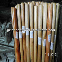 Varnished round wooden stick for floor broom