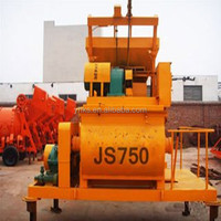 Block making plant using JS750 Twin shaft Electric cement concrete mixer manufacture