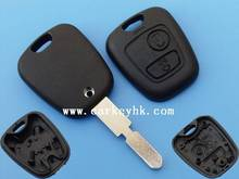 Hot sale 2B remote custom key blank peugeot 406 remote key no logo