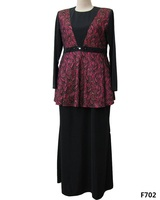 2014 New Style Arabic Abaya For Women Baju Kurung Malaysia Wholesale