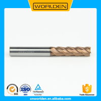 Carbide 4 Flutes CNC Milling Cutters End Mill HRC45 HRC55 HRC60 HRC65, Carbide End Mills