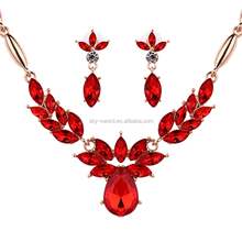 2016 fashion saudi gold jewelry set,stone jewelry in competitive price
