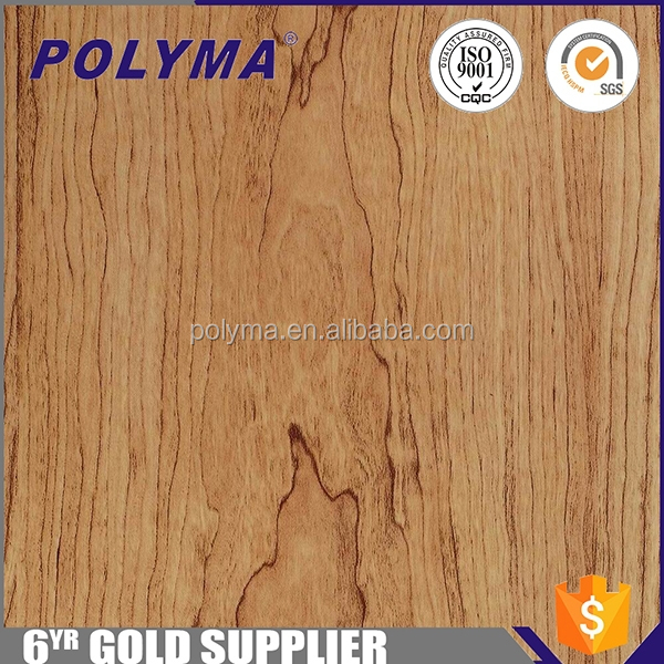 Wholesale Cherry Wooden Grain Thermal Transfer Film for TUP PU PVC leather