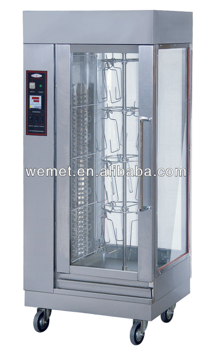 Vertical rotary electric rotisserie machine