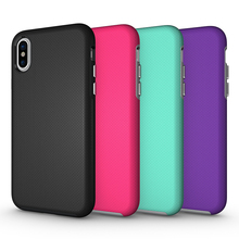 2017 New Arrive Cell Phone Anti Skid TPU PC 2 in 1 Combo Shock Proof Armor Case Back Cover For iPhone X 8 7 6 Plus