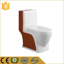 Cheap red/white one piece siphonic wc portable ceramic toilet