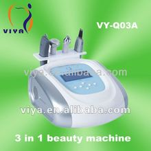 VY-Q03A 3 In 1 Multifunction Professional Ultrasonic Skin Scrubber Beauty Machine