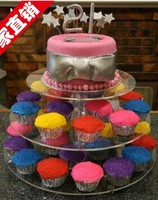 Clear acrylic 3 tier food display stand / dessert display stand / acrylic cupcake showcase
