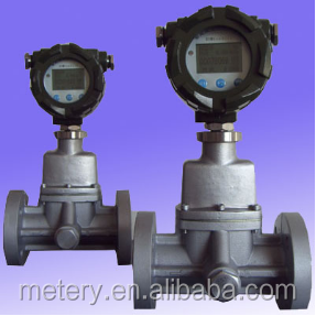 Compressed air vortex precession flow meter