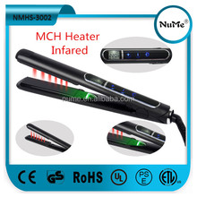 Beauty salon equipment professional LCD digital nano ceramic coating ionic ultrasonic infrared hair straightener NMHS-3002