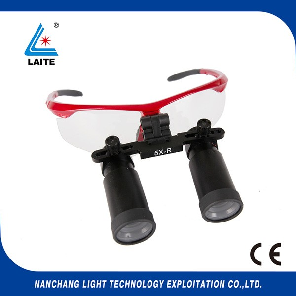 5X 6X Headband Type Binocular Dental Surgical Loupes with LED Medical Lights
