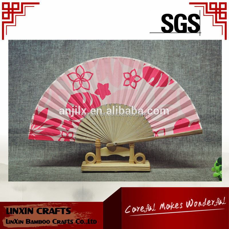 cheap promotional Japanese hand paper folding fan bamboo fan customized