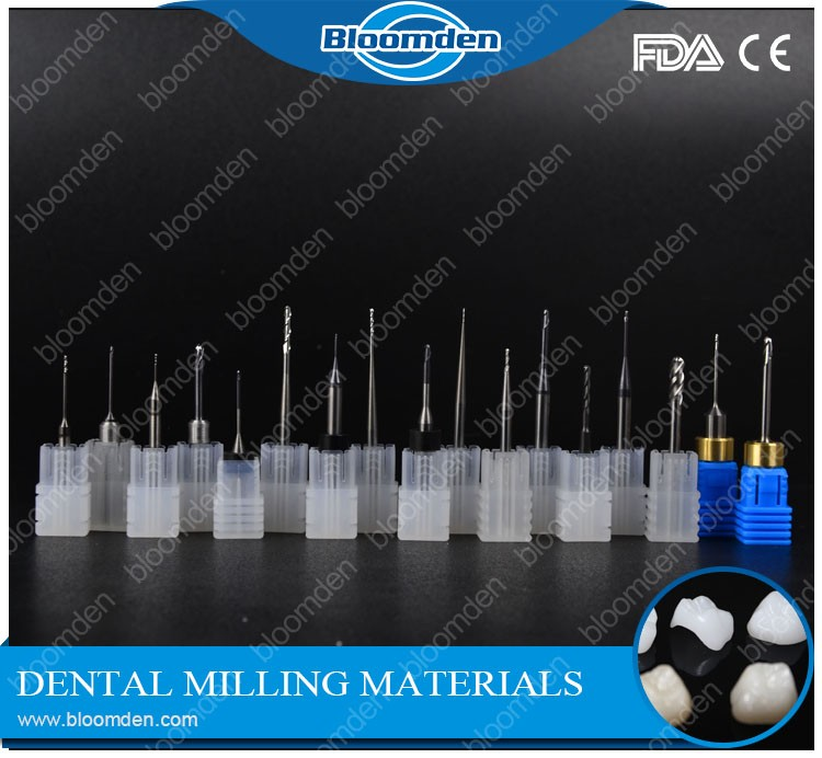 Dental laboratory cadcam system compatible zirconia milling tools/ drills