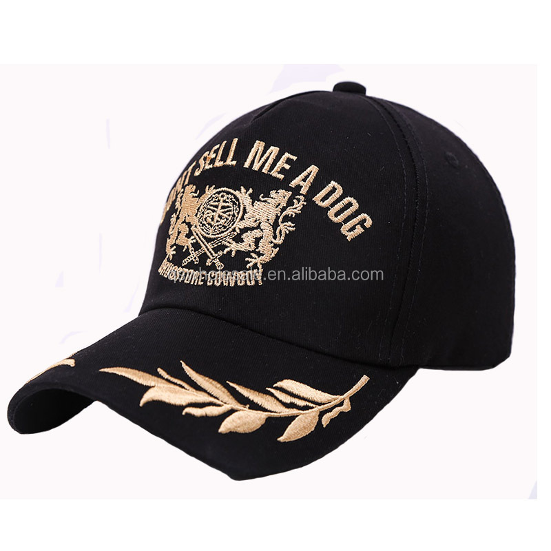 Cotton Hat Embroidered <strong>Oak</strong> Leaves Outdoor Sports Cap Low MOQ Baseball cap