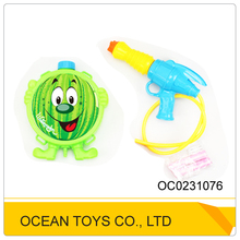 Hotsell lovely fruit shape plastic big backpack water guns for adults with 6 styles OC0231076