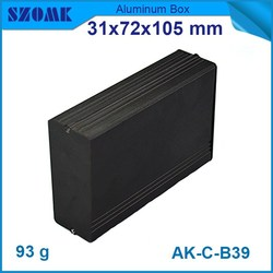 black anodized 31*72*105mm aluminum extrusion electrical enclosure made in China