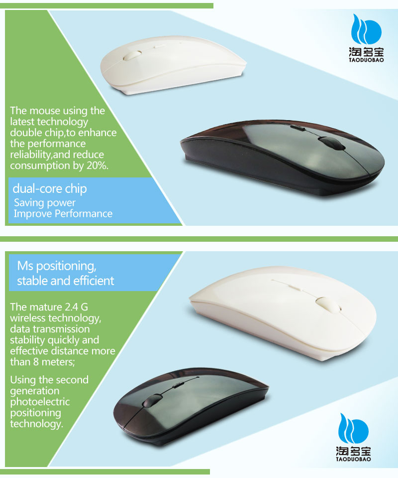 Shenzhen ISO factory wholesale ultra slim 2.4g wireless mouse
