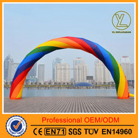 Inflatable rainbow arch/Advertising inflatable arch for 2016 hot sales