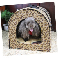 2016 customized attractive design lovely potable leopard house bunkhouse style dog house