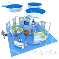 Detian offer Aluminum 3x6 Exibition Booth Stand