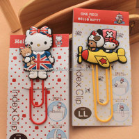 Factory Designers Custom Design 3D Cartoon Hello Kitty Piece Ali magnetic metal bookmark or bookmark