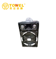 Towel Professional Single Trolley Speaker, stage and outdoor, With Colorful Light Wireless MIC ,USB,SD ,FM Radio