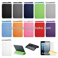 New Magnetic Slim Smart Cover Cover With Week / Sleep Stand For iPad Mini + Stylus Pen + Screen Protector