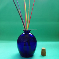 Empty Blue diffuser glass bottle on hot sale ,aroma bottle ,reed diffuser bottle