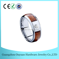 CZ inlay Wood Women's Tungsten Ring, Women and animal hot sex wood ring