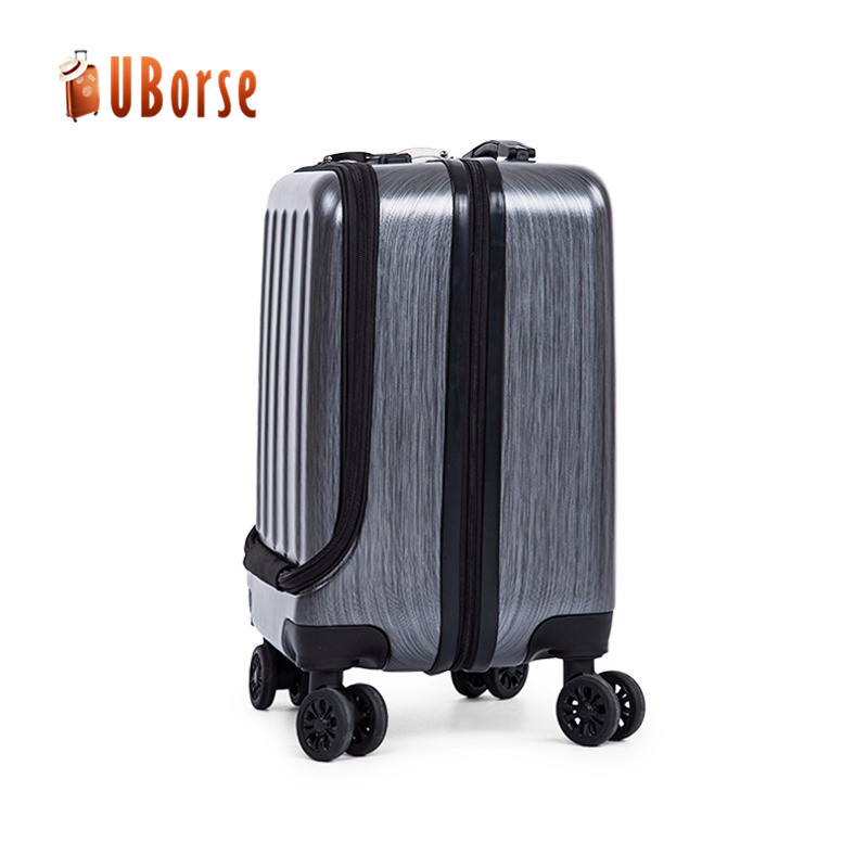 18.5/21.5inch vanity case luggage abs pc trolley suitcase luggage with front pocket