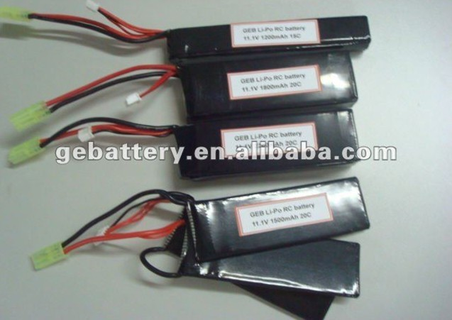 airsoftgun battery rechargeable and new design Lipo RC Battery Pack 20C 11.1V 4000mAh