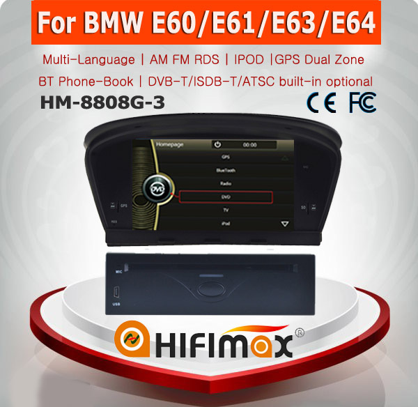 HIFIMAX Car Radio DVD GPS Navigation for BMW 5 series E60/BMW 3 series E90 E91 E92 E93 sat navi system support HD 1080P