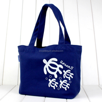 10oz custom logo printed cotton canvas tote bag/recycle shopping bag