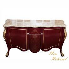 Classic Exquisite Louis Style Ruby Red Rococo Painted Dining Sideboard and Buffet BF12-08244c