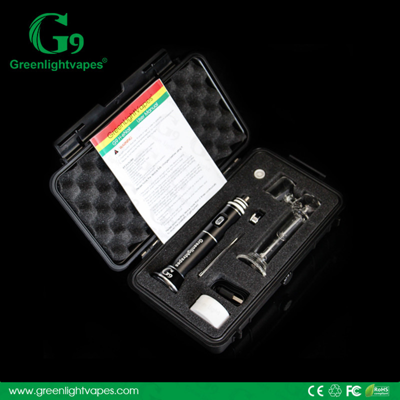Wholesale G9 Henail no coil no wick magnetic dabber and stand replacement GR2 Titanium nails dab pen dab vaporizer pen